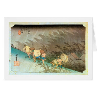 46. 庄野宿, 広重 Shōno-juku, Hiroshige, Ukiyo-e Card