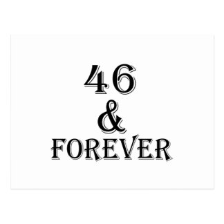 46 And Forever Birthday Designs Postcard