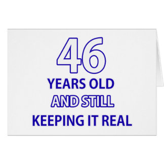 46 birthday design greeting card