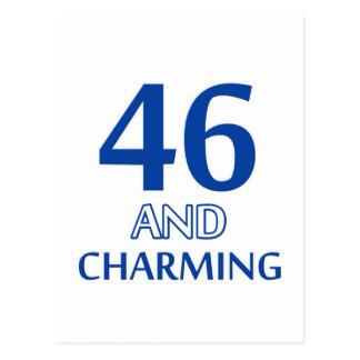 46 birthday design postcard