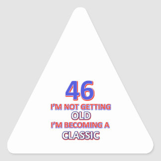 46 birthday designs triangle sticker