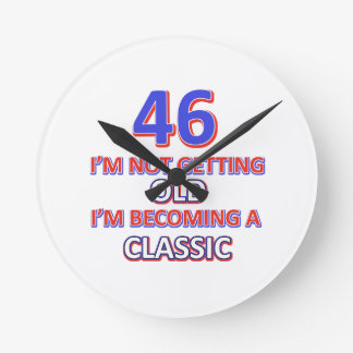 46 birthday designs wall clocks