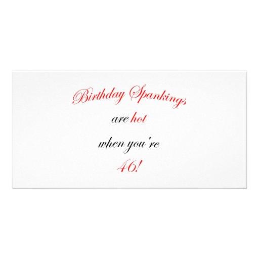 46 Birthday Spanking Photo Card Template