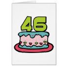 46 Year Old Birthday Cake Card