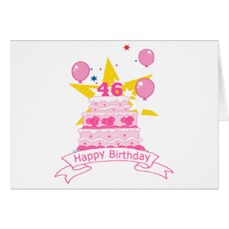 46 Year Old Birthday Cake Greeting Card