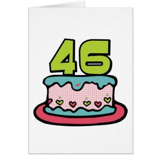 46 Year Old Birthday Cake Greeting Card