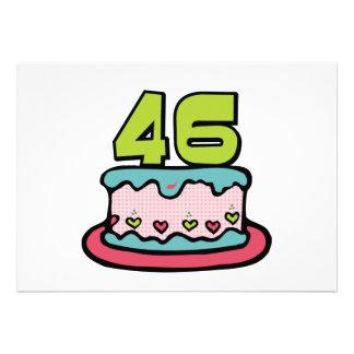 46 Year Old Birthday Cake Custom Announcements