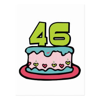 46 Year Old Birthday Cake Postcard