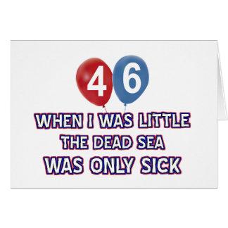 46 year old dead sea birthday designs greeting card
