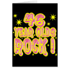 46 Year Olds Rock! (Pink) Greeting Card