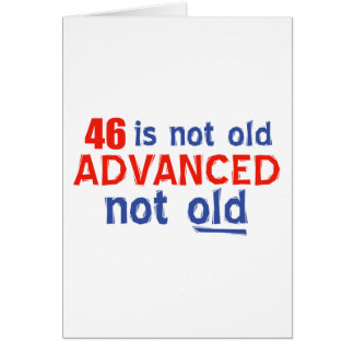 46 years Old birthday designs Greeting Cards