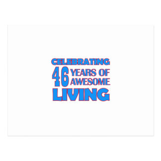 46 years old birthday designs postcard