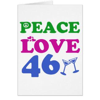 46th Anniversary designs Card