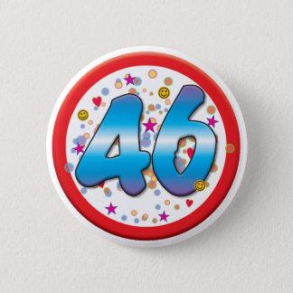 46th Birthday 2 Inch Round Button