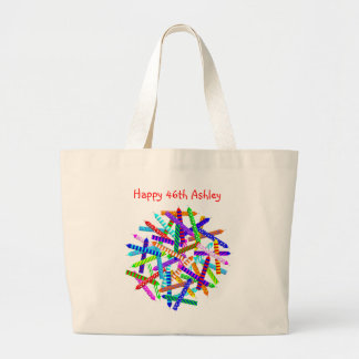 46th Birthday Gifts Large Tote Bag
