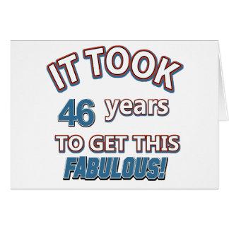 46th year birthday designs card