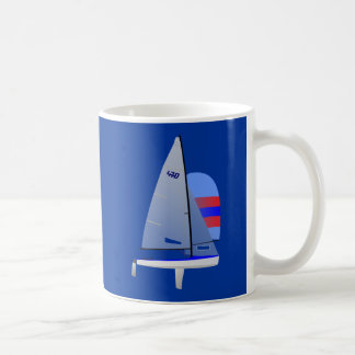 470  Racing Sailboat onedesign Olympic Class Classic White Coffee Mug