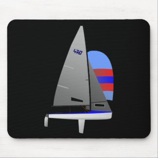 470  Racing Sailboat onedesign Olympic Class Mouse Pad