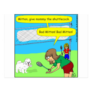 474 bad mitten Cartoon Postcard