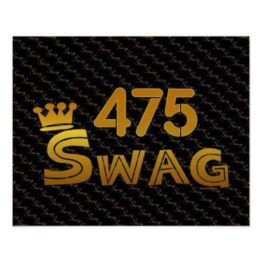 475 Area Code Swag Poster