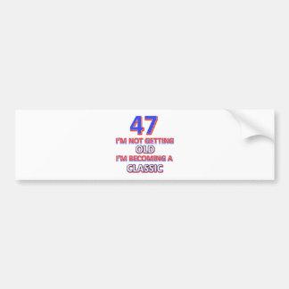 47 birthday designs bumper sticker