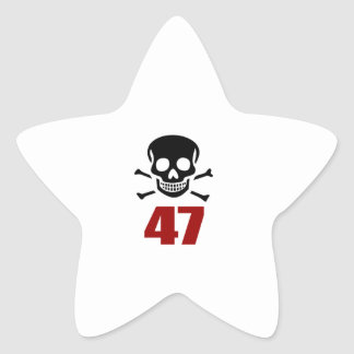 47 Birthday Designs Star Sticker