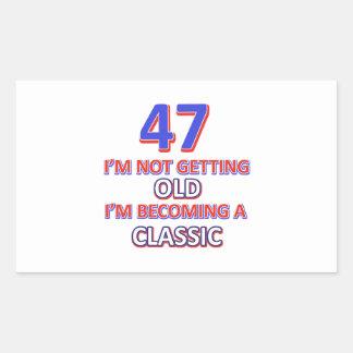 47 birthday designs sticker