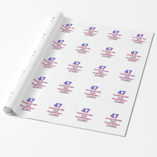 47 birthday designs wrapping paper