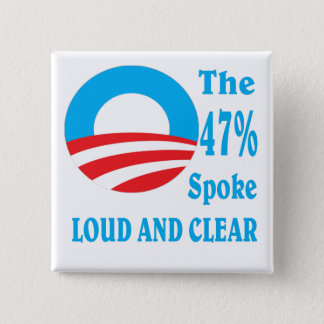 47 percent for BARACK OBAMA. 2 Inch Square Button