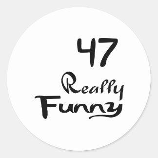 47 Really Funny Birthday Designs Classic Round Sticker