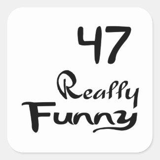 47 Really Funny Birthday Designs Square Sticker