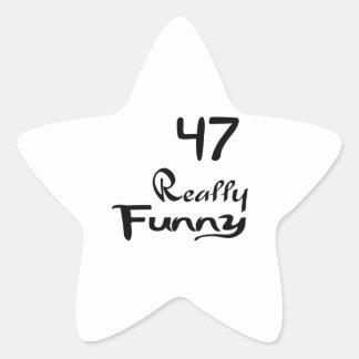 47 Really Funny Birthday Designs Star Sticker