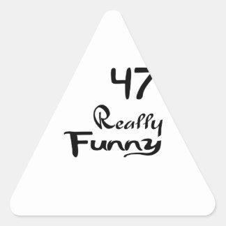 47 Really Funny Birthday Designs Triangle Sticker