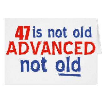47 years Old birthday designs Card