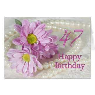 47th Birthday card with daisies