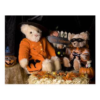 4812 Teddy Bear Halloween Postcard