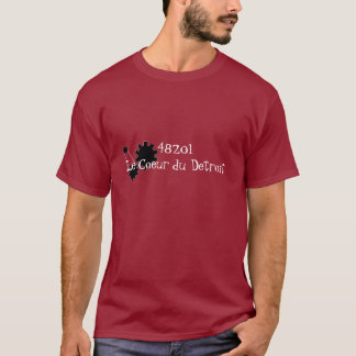 48201Le Coeur du Detroit with gear logo T-Shirt