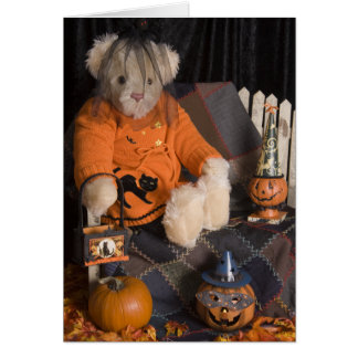 4839 Teddy Bear Halloween Greeting Card
