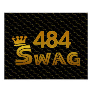 484 Area Code Swag Poster
