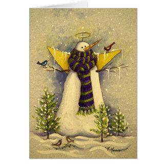 4881 Snow Angel & Birds Christmas Card