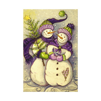 4882 Snowmen Christmas Canvas Print