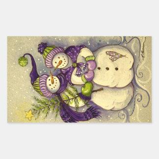 4882 Snowmen Christmas Sticker