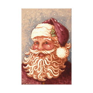 4884 Santa Claus Christmas Gallery Wrapped Canvas