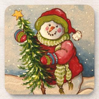 4889 Snowman Christmas Drink Coasters
