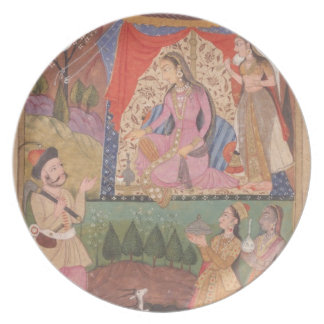 48.6/2 folio 138 Farhad recounts his adventures to Plates