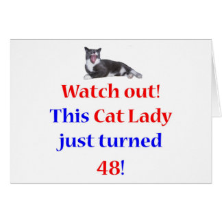 48 Cat Lady Card