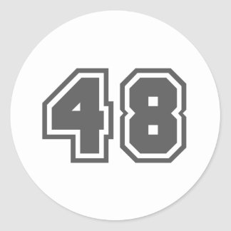 48 CLASSIC ROUND STICKER