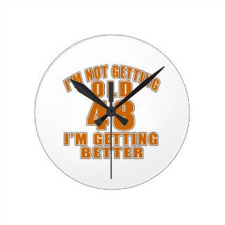 48 I Am Getting Better Wall Clock