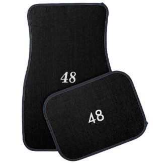 48 Number for Jimmie Johnson black car mats