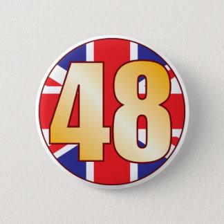 48 UK Gold 2 Inch Round Button